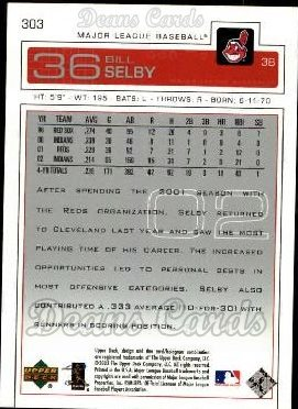 2003 Upper Deck #303  Bill Selby