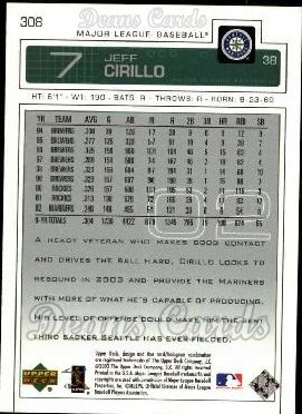 2003 Upper Deck #308  Jeff Cirillo