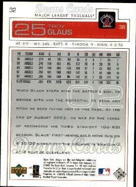 2003 Upper Deck #32  Troy Glaus