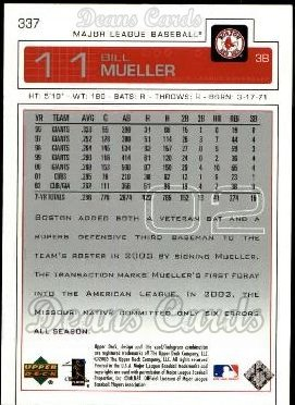 2003 Upper Deck #337  Bill Mueller