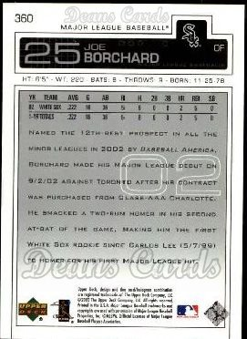2003 Upper Deck #360  Joe Borchard