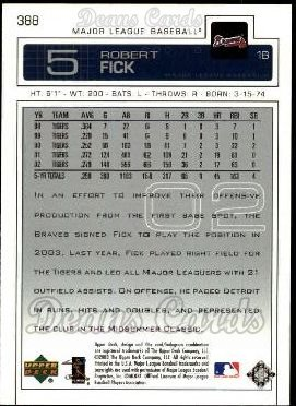 2003 Upper Deck #388  Robert Fick