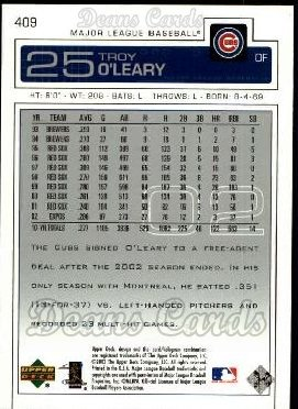 2003 Upper Deck #409  Troy O'Leary