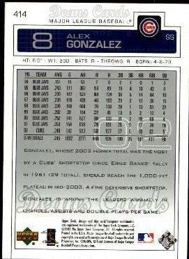 2003 Upper Deck #414  Alex Gonzalez