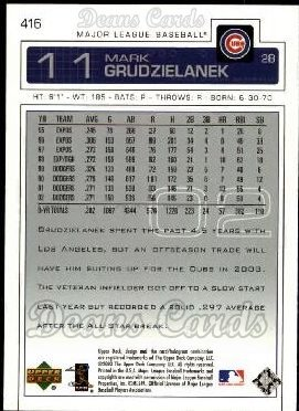 2003 Upper Deck #416  Mark Grudzielanek