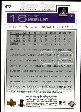 2003 Upper Deck #422  Chad Moeller