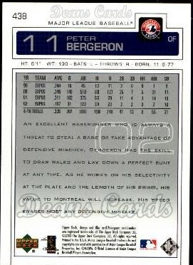 2003 Upper Deck #438  Peter Bergeron