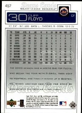 2003 Upper Deck #457  Cliff Floyd