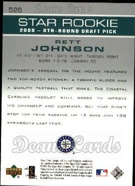 2003 Upper Deck #528   -  Rett Johnson Star Rookie