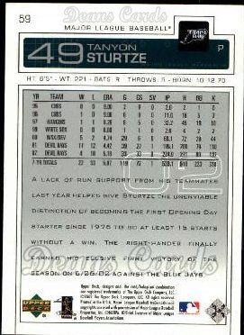 2003 Upper Deck #59  Tanyon Sturtze