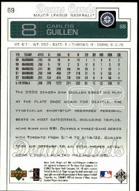 2003 Upper Deck #69  Carlos Guillen