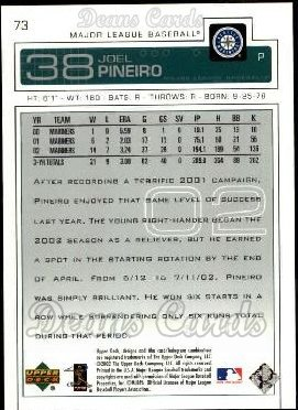 2003 Upper Deck #73  Joel Pineiro