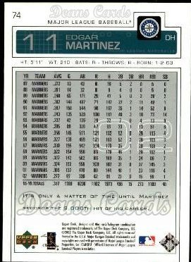 2003 Upper Deck #74  Edgar Martinez