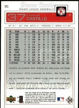 2003 Upper Deck #95  Frank Castillo
