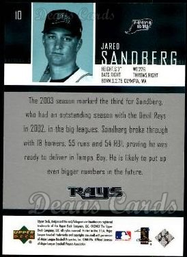 2004 Upper Deck #10  Jared Sandberg