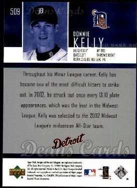 2004 Upper Deck #509  Donnie Kelly
