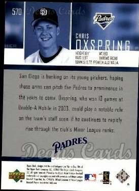2004 Upper Deck #570  Chris Oxspring