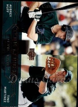 2005 Upper Deck #288   -  Aubrey Huff / Tino Martinez Devil Rays Leaders
