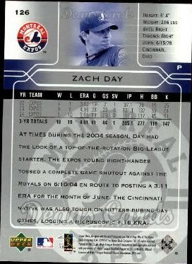 2005 Upper Deck #126  Zach Day
