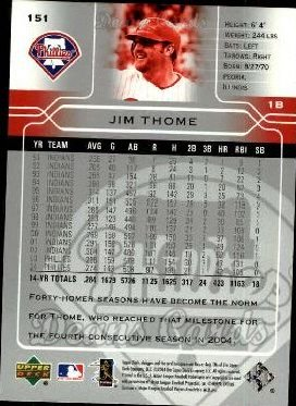 2005 Upper Deck #151  Jim Thome