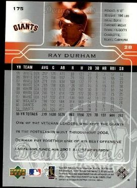 2005 Upper Deck #175  Ray Durham
