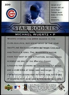 2005 Upper Deck #230   -  Michael Wuertz Star Rookie