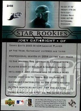 2005 Upper Deck #248   -  Joey Gathright Star Rookie