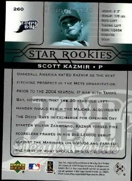 2005 Upper Deck #260   -  Scott Kazmir Star Rookie