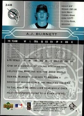 2005 Upper Deck #348  A.J. Burnett