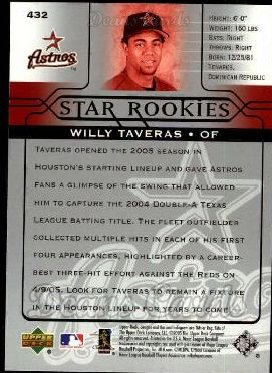 2005 Upper Deck #432   -  Willy Taveras Star Rookie