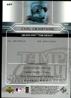 2005 Upper Deck #497   -  Carl Crawford Tampa Bay Devil Rays Team