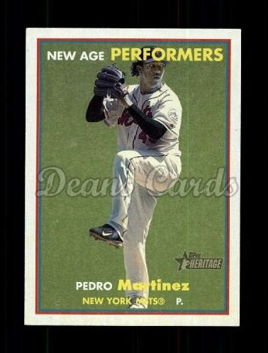 2006 Topps Heritage New Age Performers #13 NAP Pedro Martinez