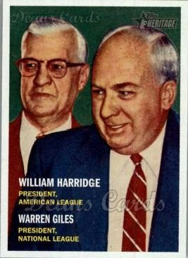 2006 Topps Heritage #100  William Harridge / Warren Giles