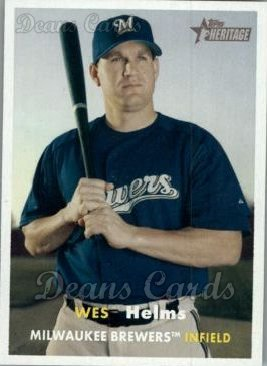 2006 Topps Heritage #179  Wes Helms