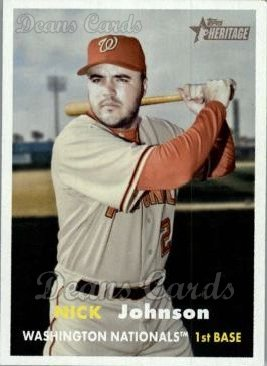 2006 Topps Heritage #188  Nick Johnson