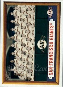 2006 Topps Heritage #317   San Francisco Giants Team