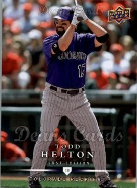 2008 Upper Deck First Edition #205  Todd Helton