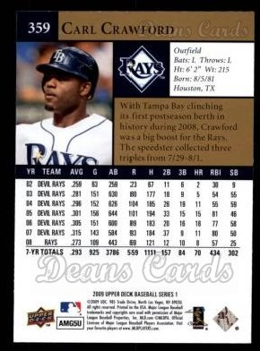 2009 Upper Deck #359  Carl Crawford