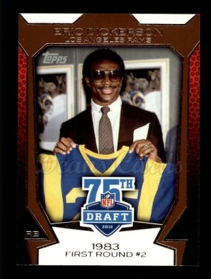 2010 Topps Draft 75th Anniversary #45 75DA Eric Dickerson