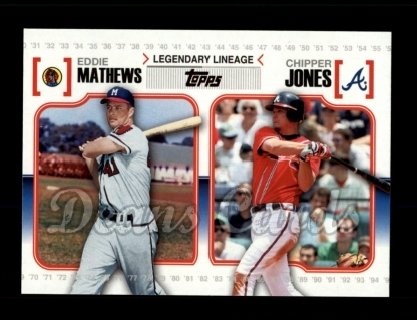 # LL34 Eddie Mathews / Chipper Jones - 2010 Topps Legendary Lineage