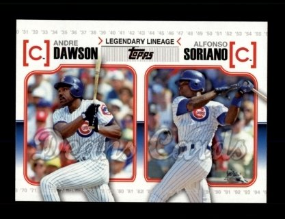 # LL36 Andre Dawson / Alfonso Soriano - 2010 Topps Legendary Lineage