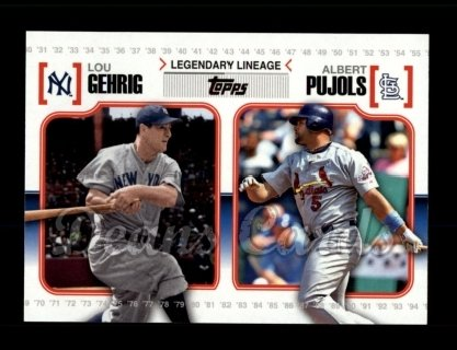 # LL42 Lou Gehrig / Albert Pujols - 2010 Topps Legendary Lineage