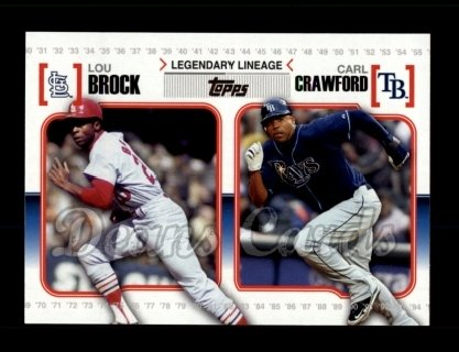 # LL49 Lou Brock / Carl Crawford - 2010 Topps Legendary Lineage
