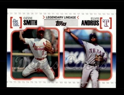 # LL54 Ozzie Smith / Elvis Andrus - 2010 Topps Legendary Lineage