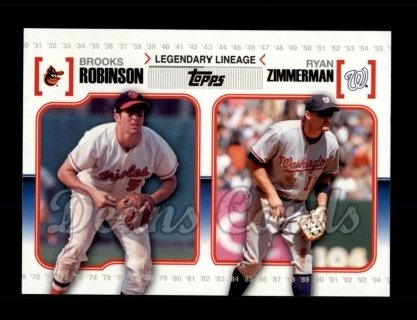 # LL56 Brooks Robinson / Ryan Zimmerman - 2010 Topps Legendary Lineage