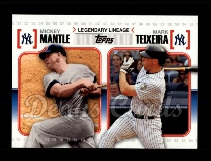 # LL59 Mickey Mantle / Mark Teixeira - 2010 Topps Legendary Lineage