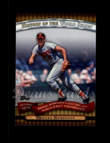 2010 Topps History of the World Series #16 HWS  -  Brooks Robinson History of the World Series