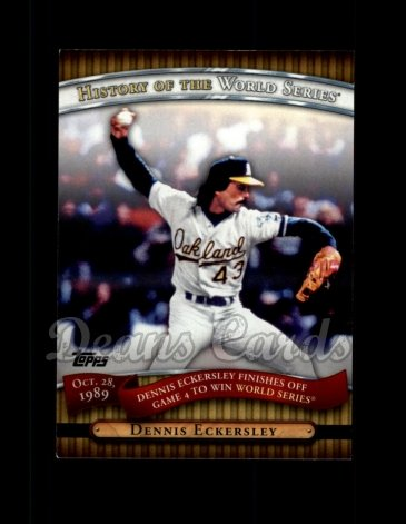 2010 Topps History of the World Series #17 HWS  -  Dennis Eckersley History of the World Series