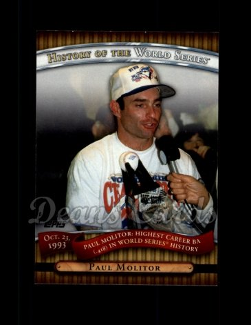 2010 Topps History of the World Series #18 HWS  -  Paul Molitor History of the World Series
