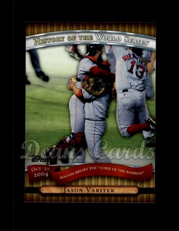 2010 Topps History of the World Series #19 HWS  -  Jason Varitek History of the World Series